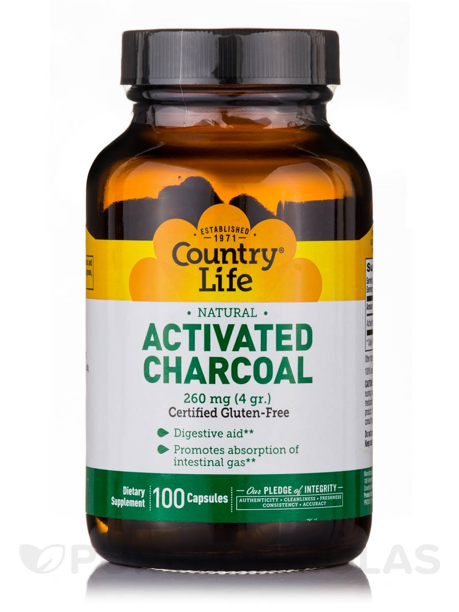 Activated Charcoal 260 mg - 100 Capsules