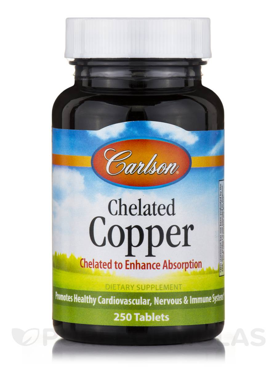 Chelated Copper - 250 Tablets