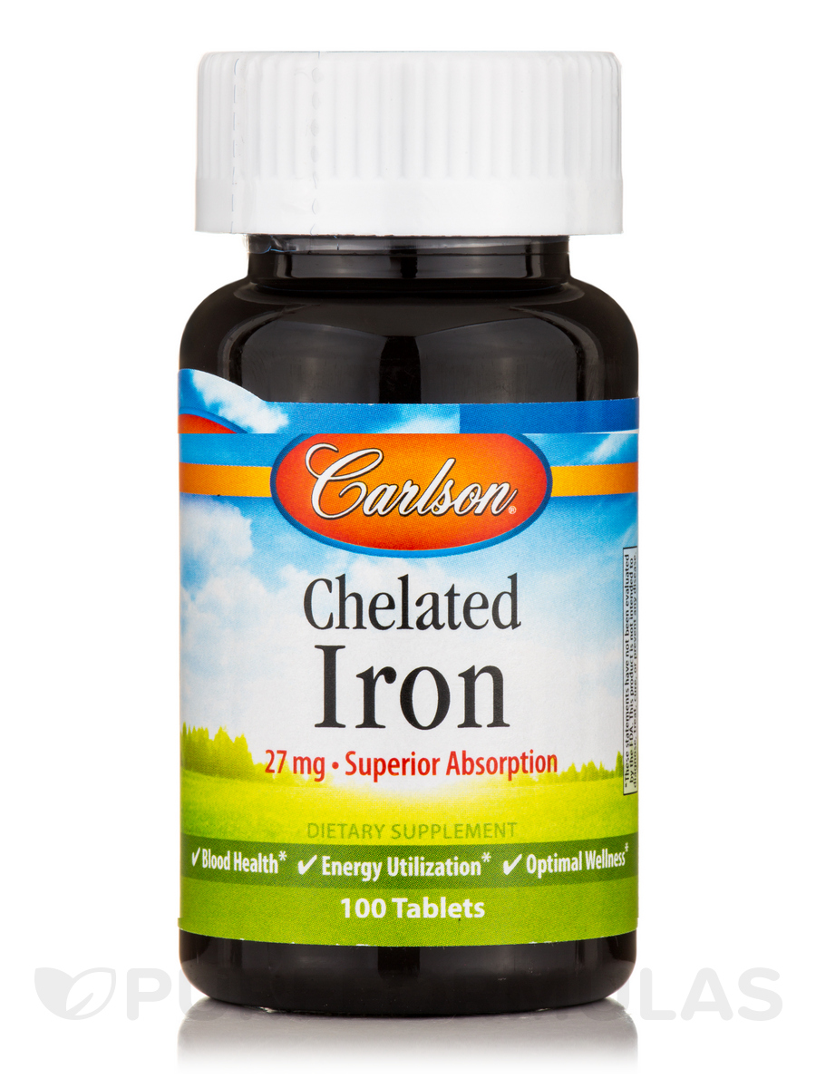 Chelated Iron 27 mg - 100 Tablets