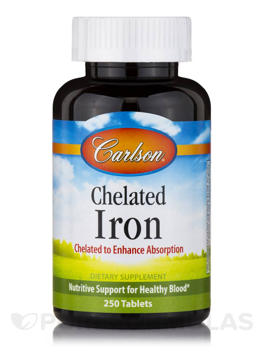 Chelated Iron - 250 Tablets