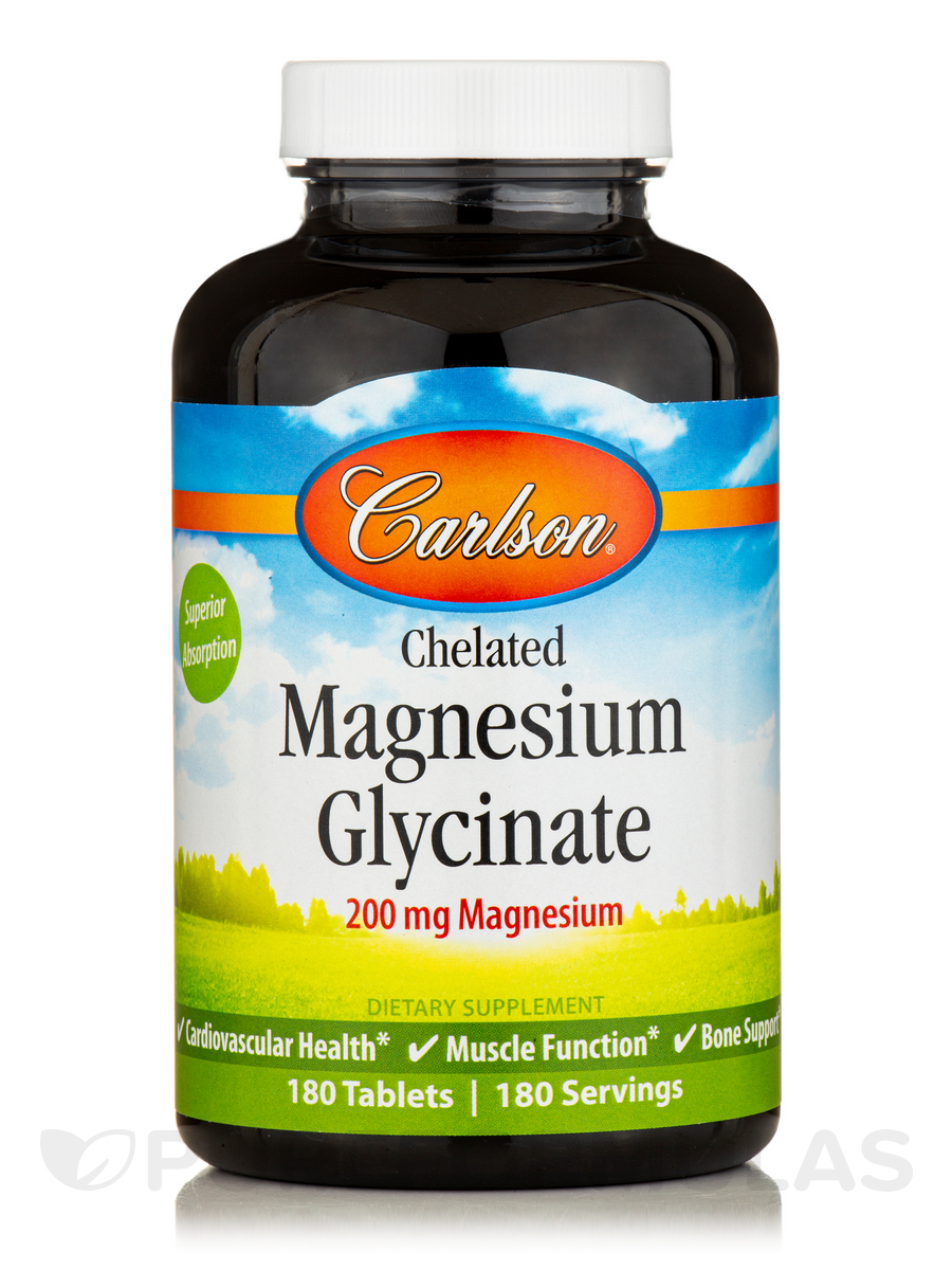 Chelated Magnesium - 180 Tablets