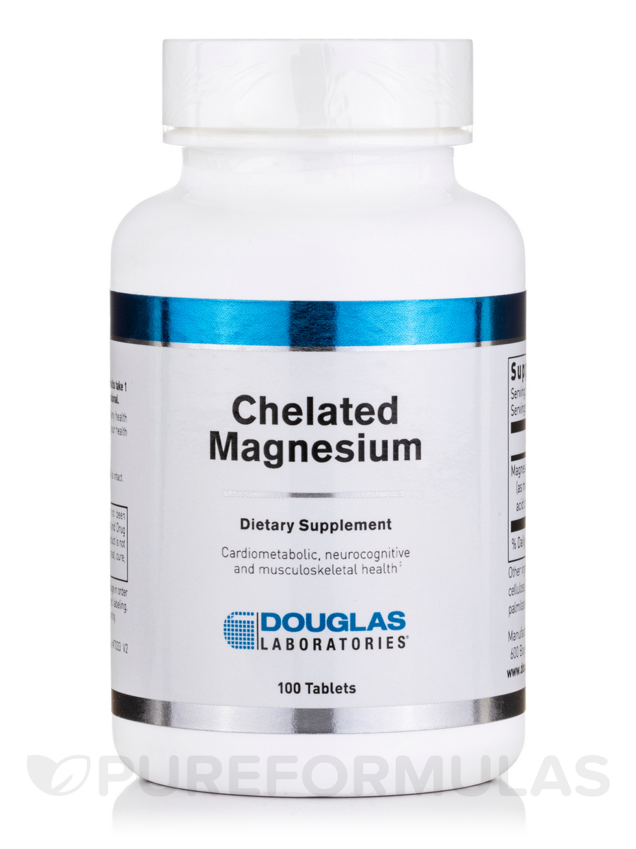 Chelated Magnesium - 100 Tablets