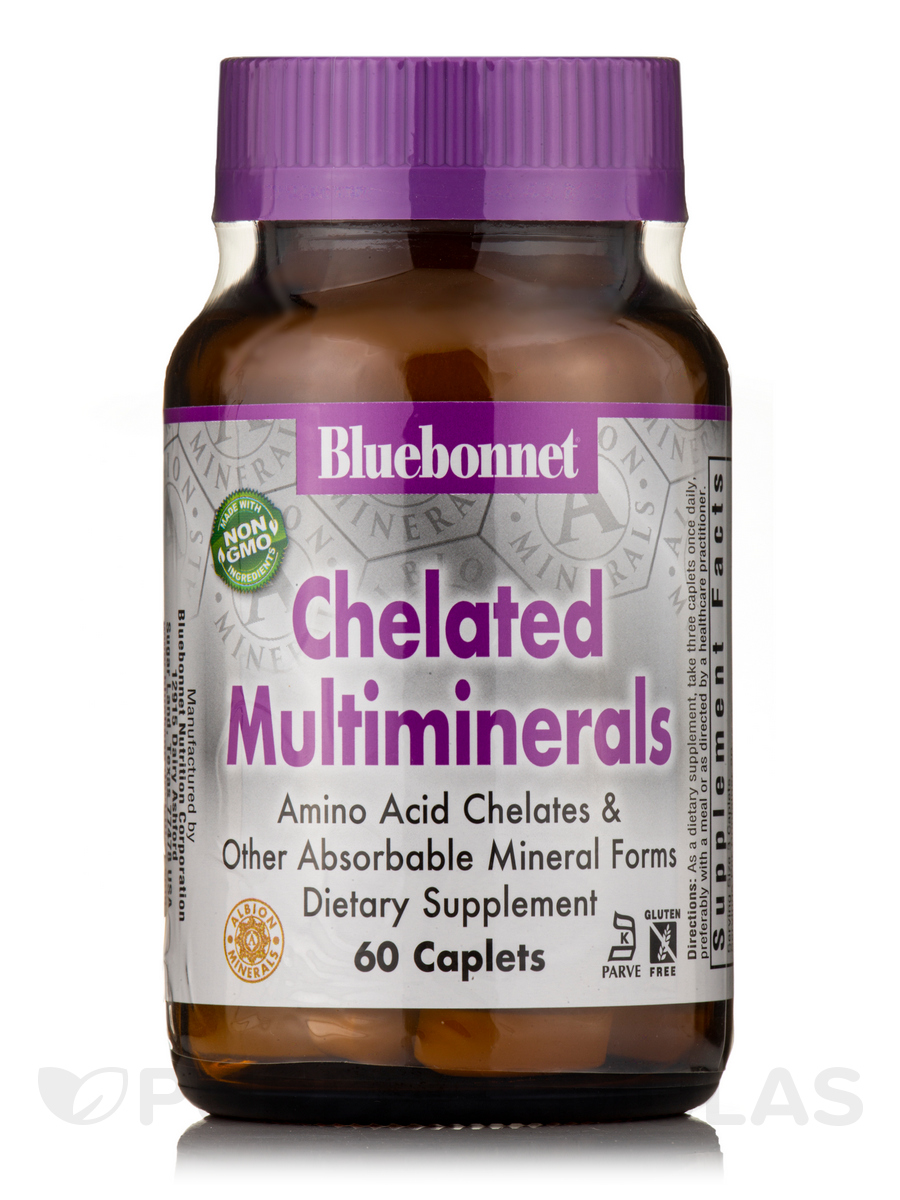 Chelated Multiminerals - 60 Caplets