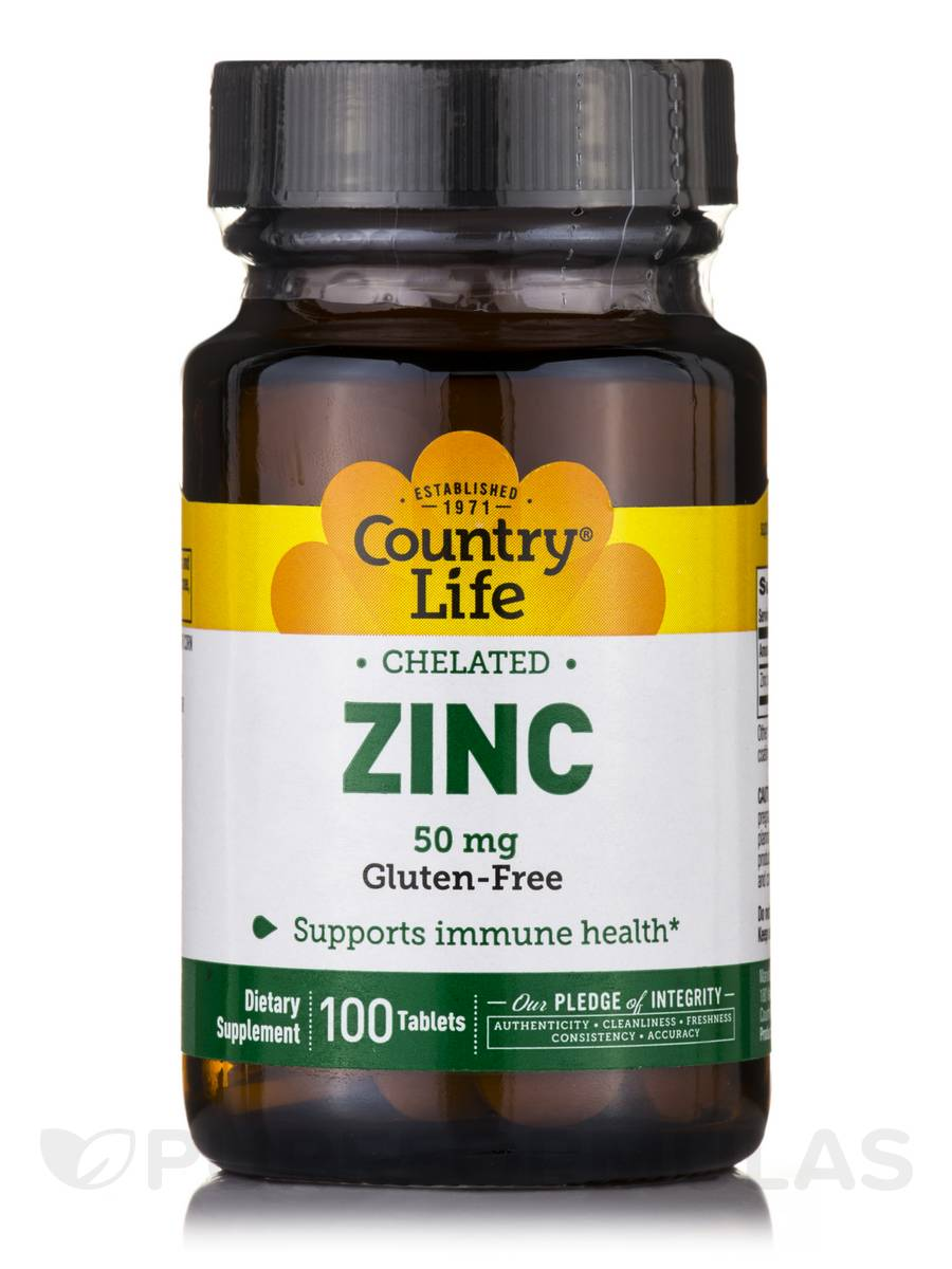 Chelated Zinc 50 mg - 100 Tablets