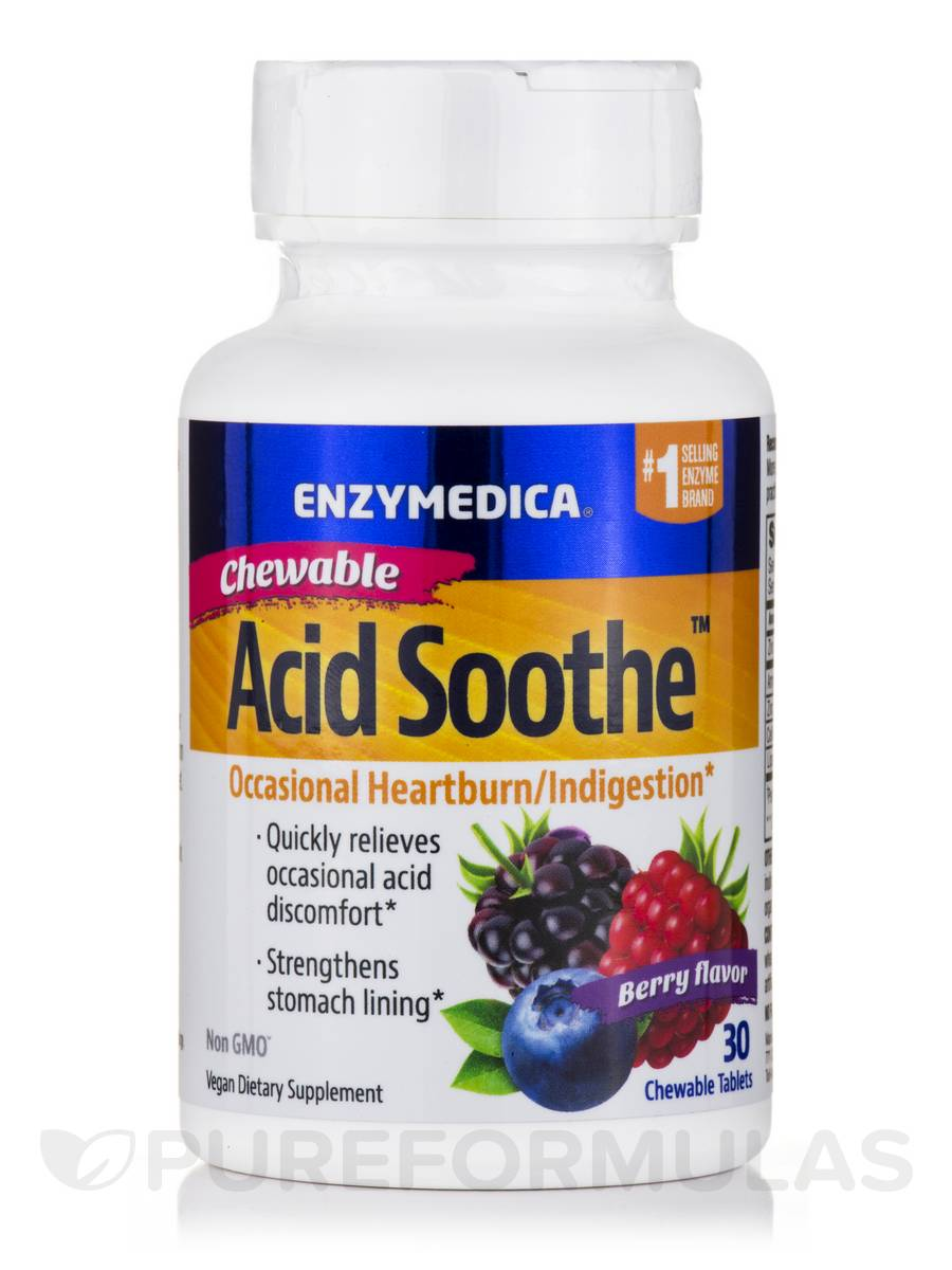 Chewable Acid Soothe™, Berry Flavor - 30 Chewable Tablets