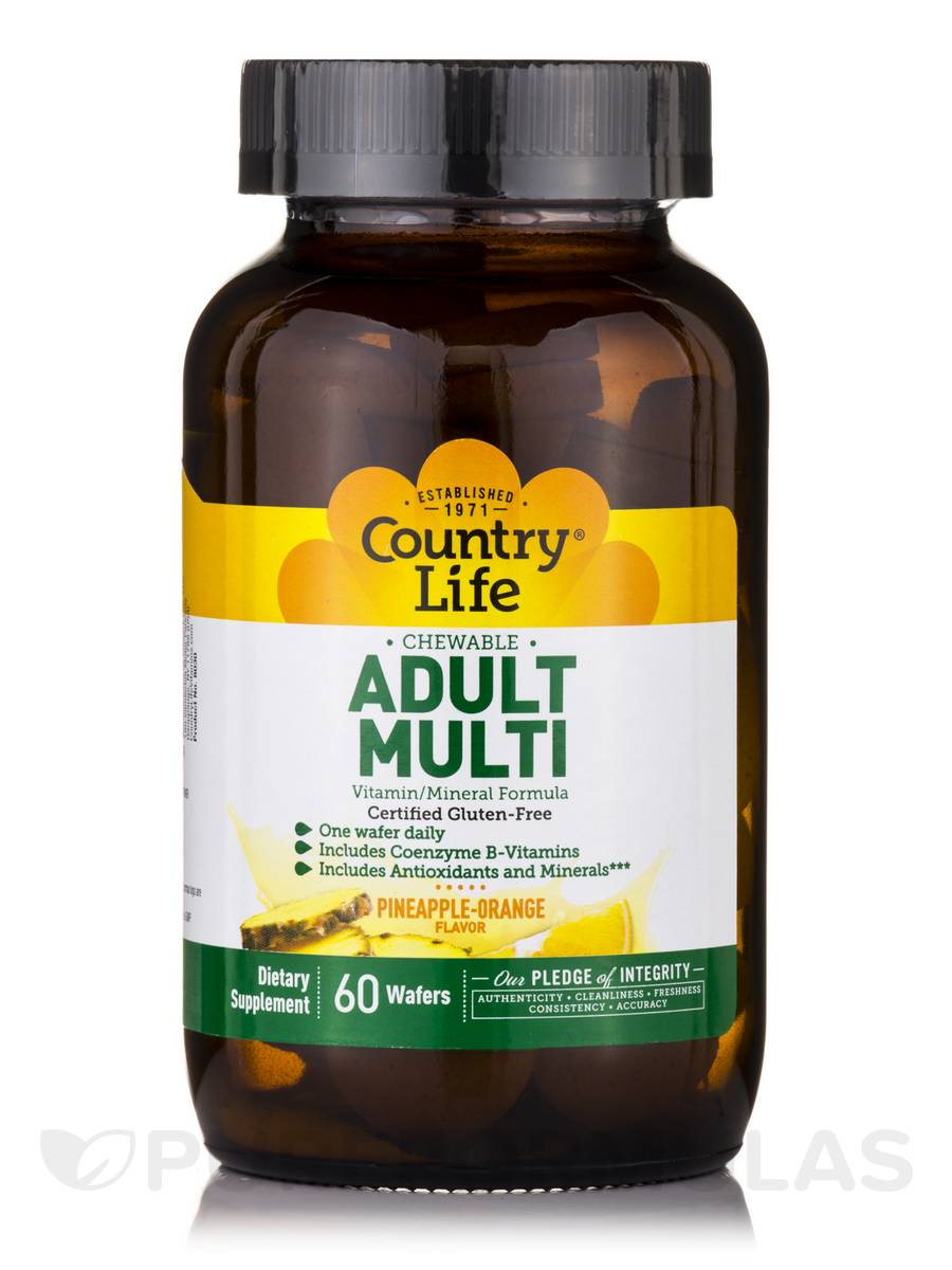 Chewable Adult Multi (Pineapple Orange Flavor) - 60 Wafers