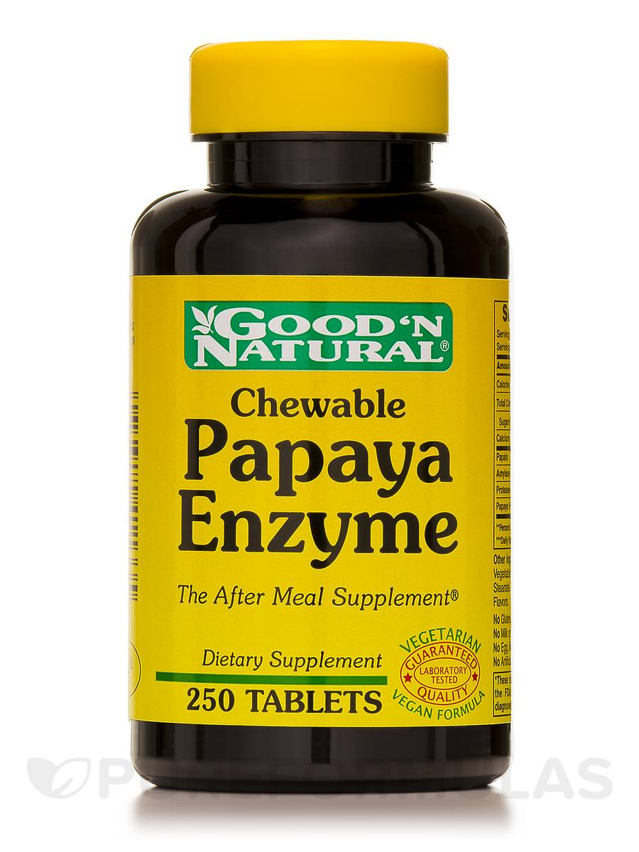 Chewable Papaya Enzyme - 250 Tablets
