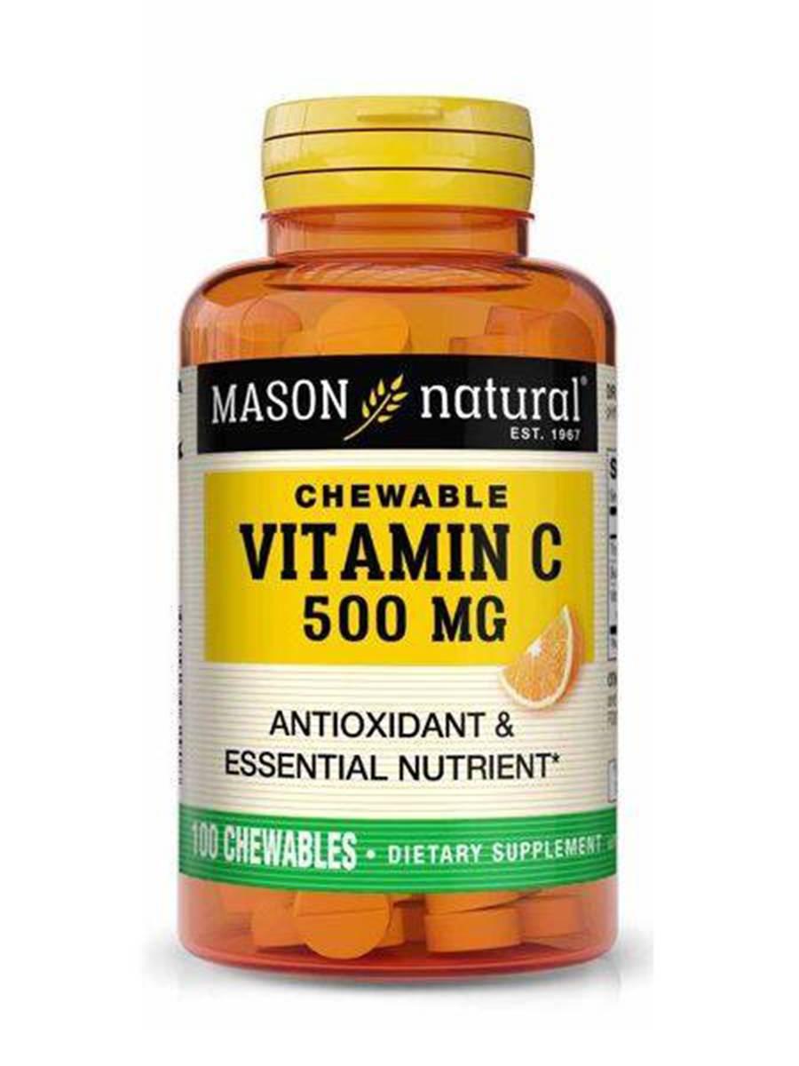 Chewable Vitamin C 500 mg, Orange Flavor - 100 Chewables