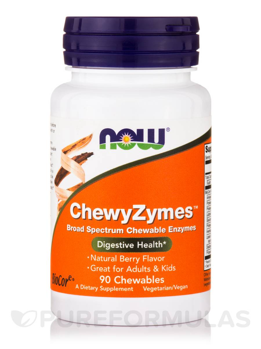 ChewyZymes™, Natural Berry Flavor - 90 Chewables