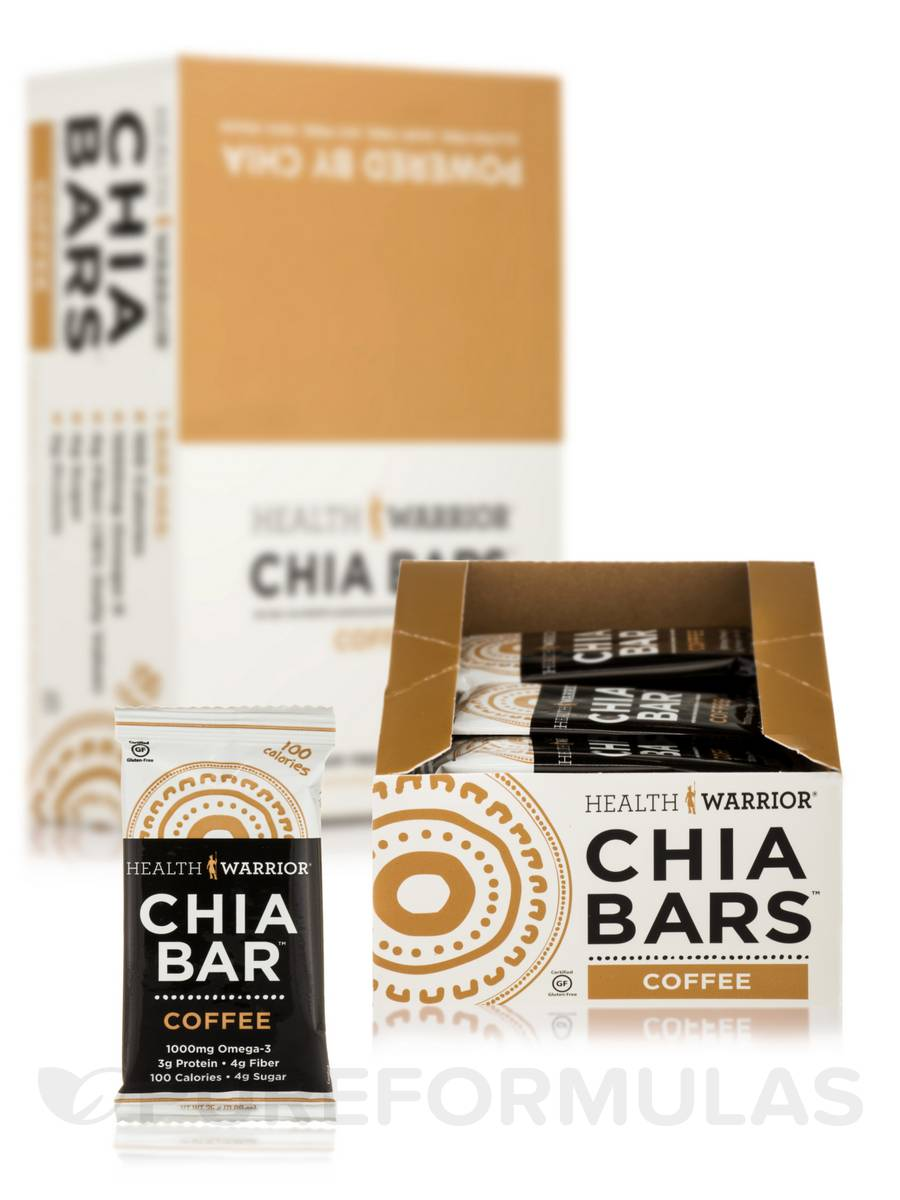 Chia Bars™ Coffee - Box of 15 Bars