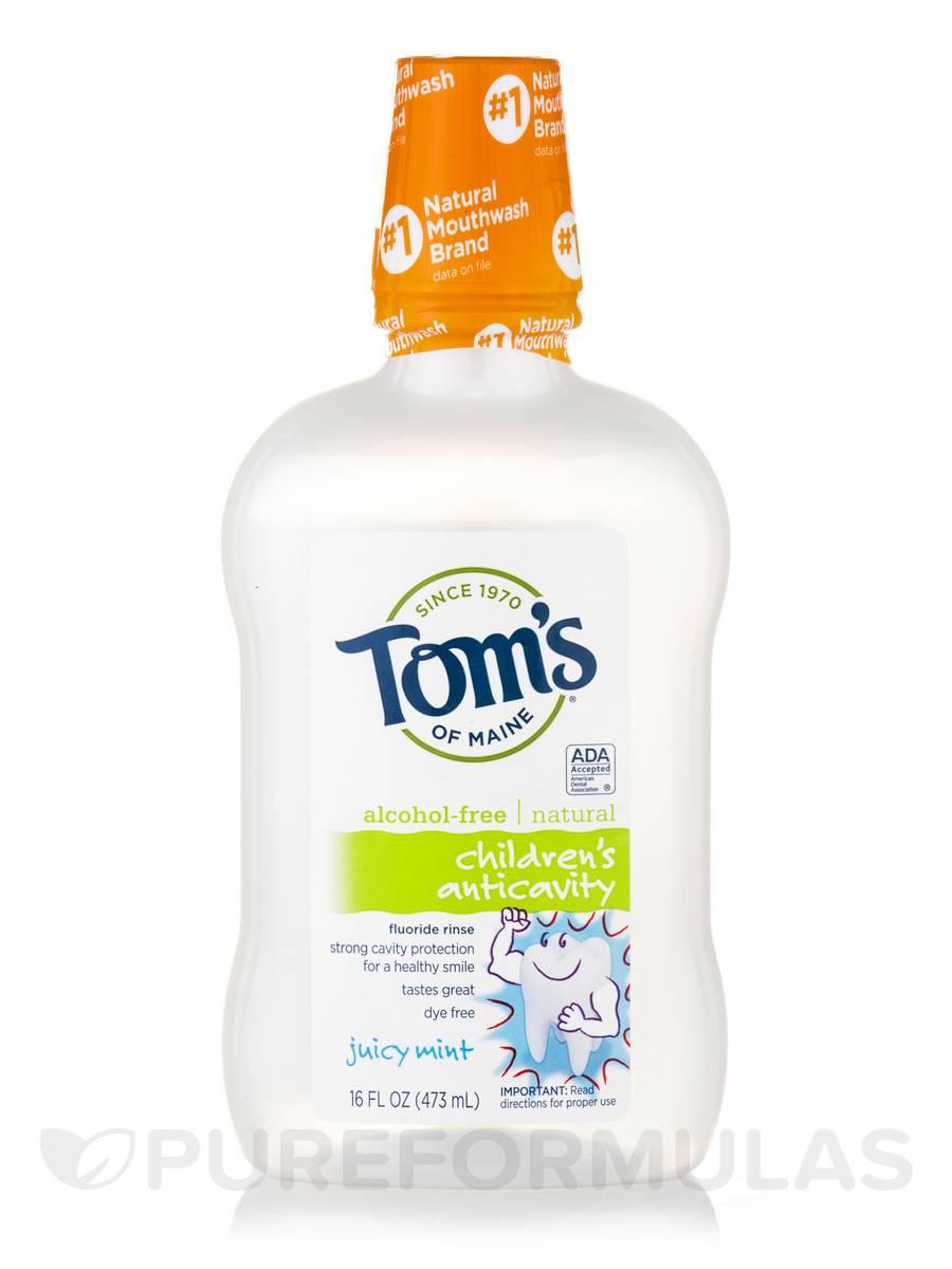 Children's Anticavity Fluoride Rinse, Juicy Mint (Alcohol-Free) - 16 fl. oz (473 ml)