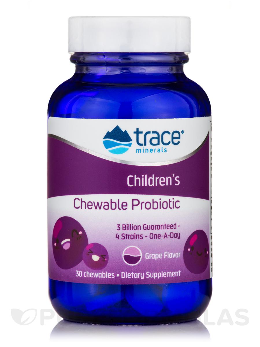 Children's Chewable Probiotic, Grape Flavor - 30 Chewables