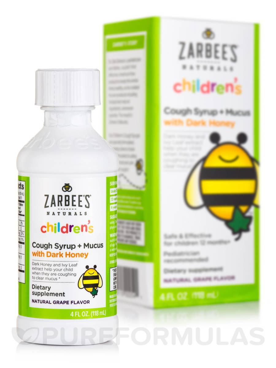 Children's Cough Syrup + Mucus, Natural Grape Flavor - 4 fl. oz (118 ml)