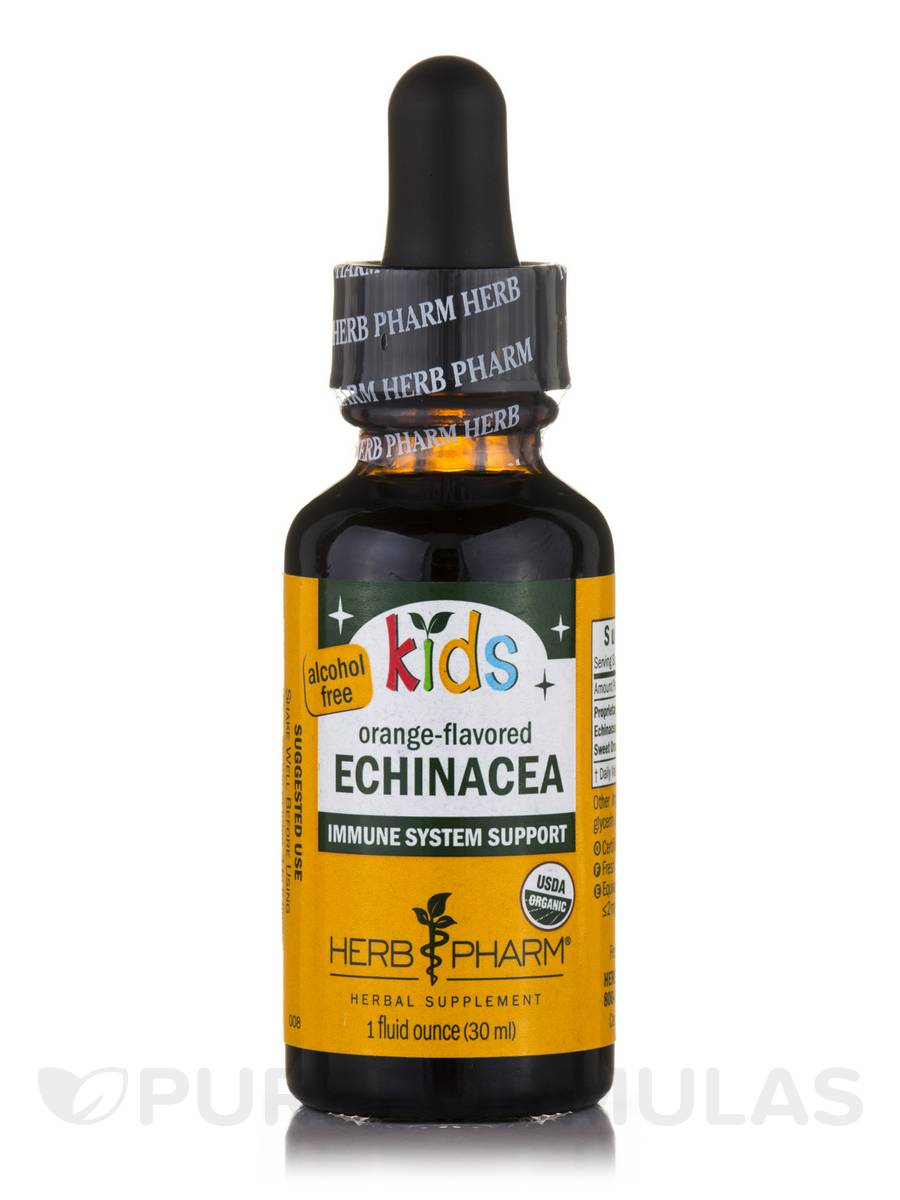 Kids Echinacea (Alcohol-Free), Orange-Flavor - 1 fl. oz (30 ml)