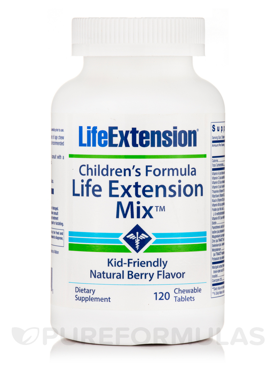 Children's Formula Life Extension Mix™, Natural Berry Flavor - 100 Chewable Tablets
