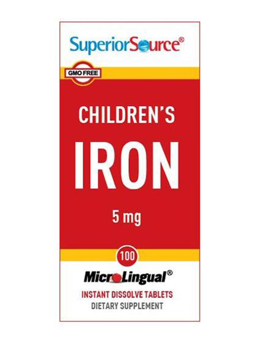 Children's Iron 5 mg - 100 MicroLingual® Tablets