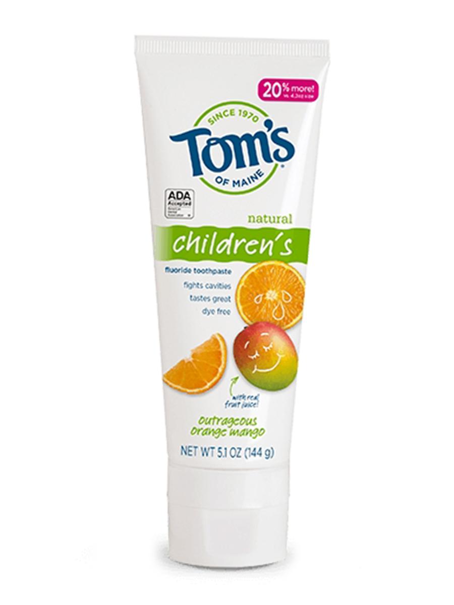 Children's Fluoride Toothpaste, Outrageous Orange Mango - 5.1 oz (144 Grams)