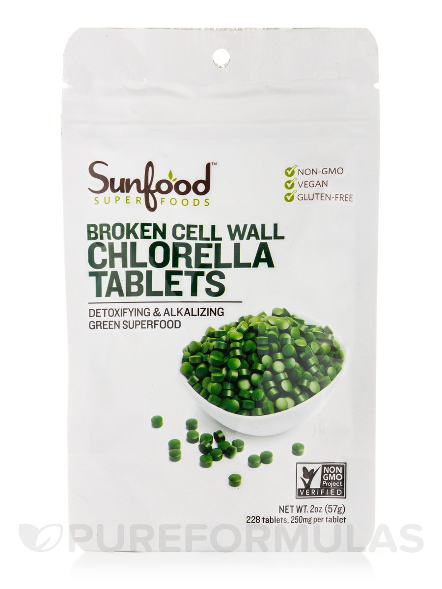 Chlorella Tablets 250 mg - 225 Tablets (2 oz / 57 Grams)
