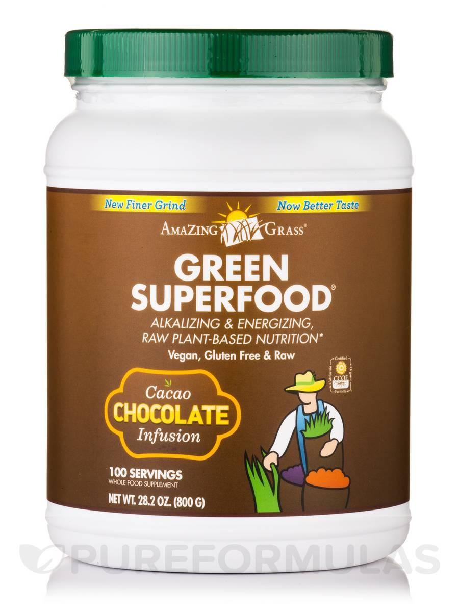 Green SuperFood® Chocolate Powder - 100 Servings (28.2 oz / 800 Grams)
