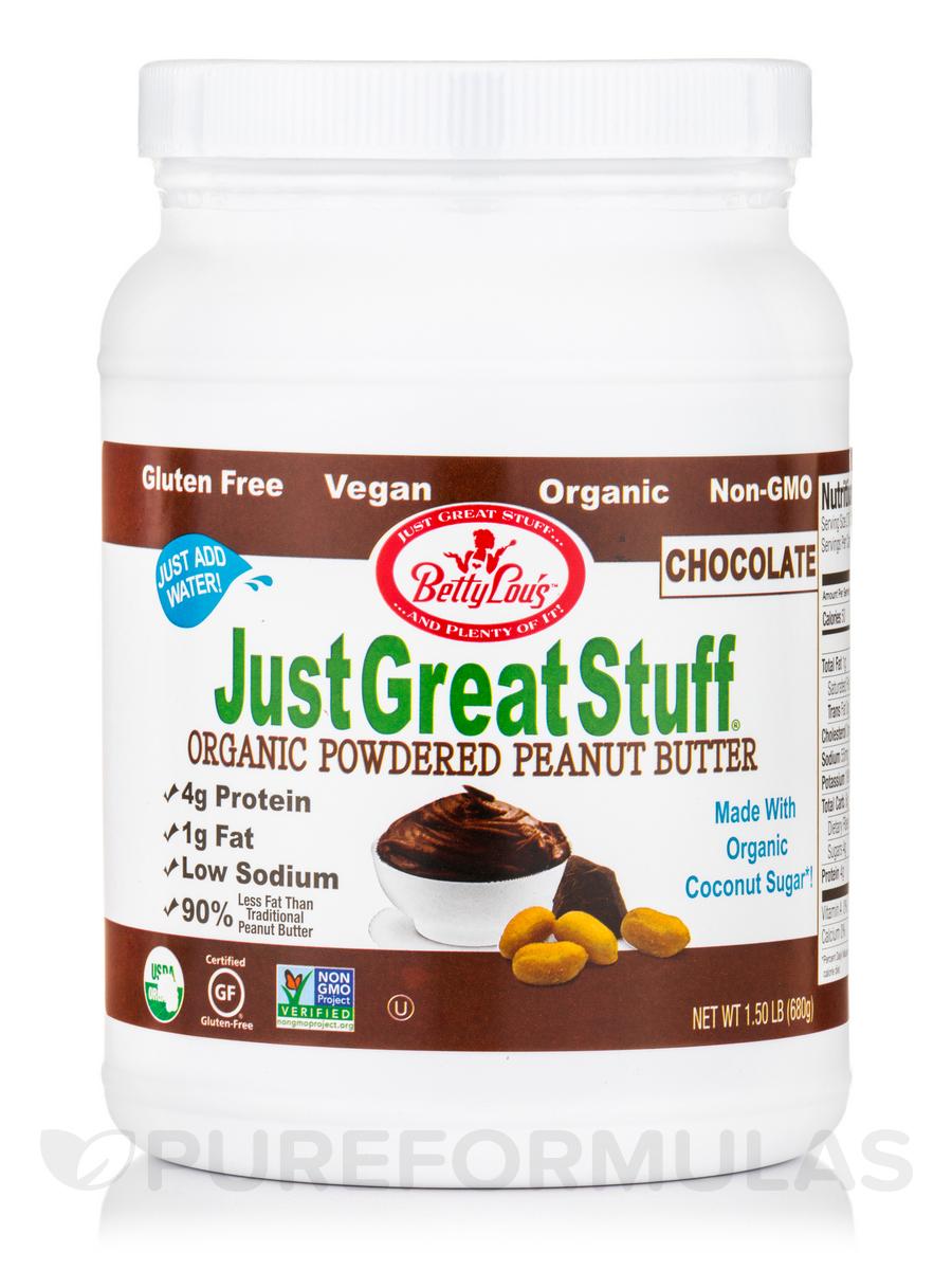 Organic Powdered Peanut Butter, Chocolate - 1.50 lb (680 Grams)