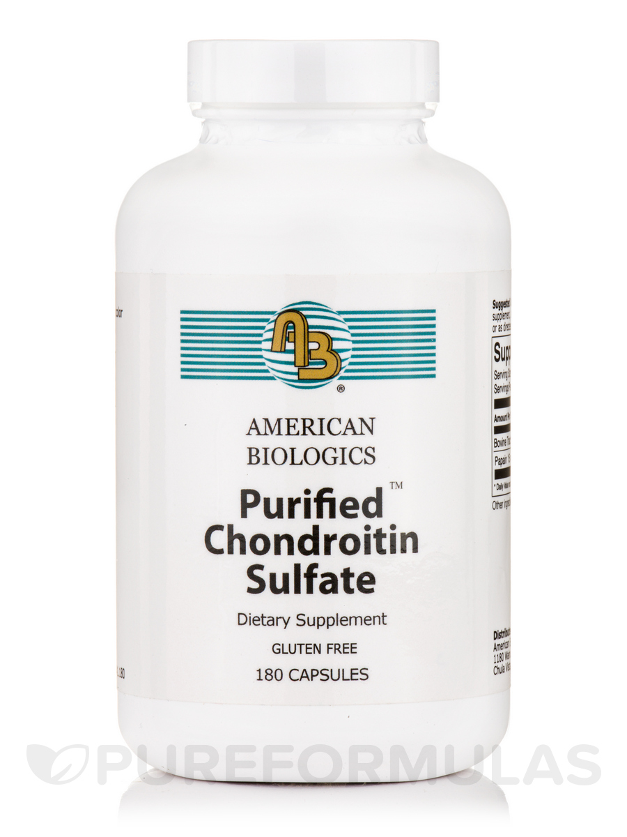 Purified Chondroitin Sulfates - 180 Capsules