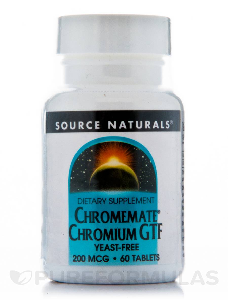 Chromium GTF 200 mcg Yeast-Free - 60 Tablets