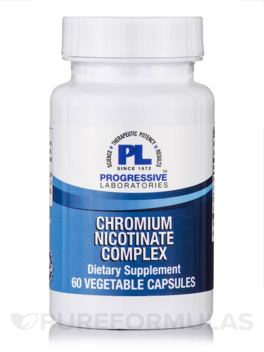 Chromium Nicotinate Complex - 60 Vegetable Capsules