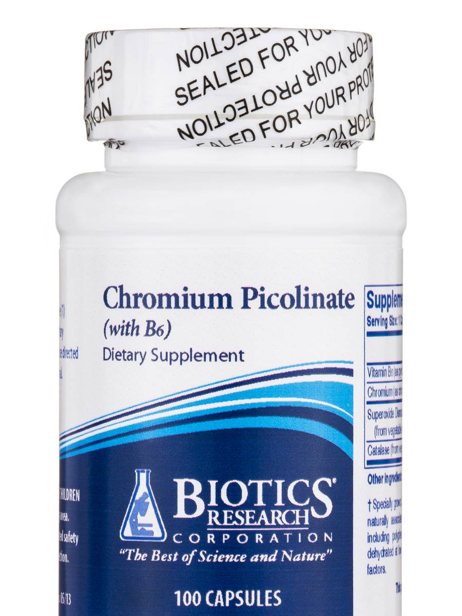 Chromium Picolinate with B6 - 100 Capsules