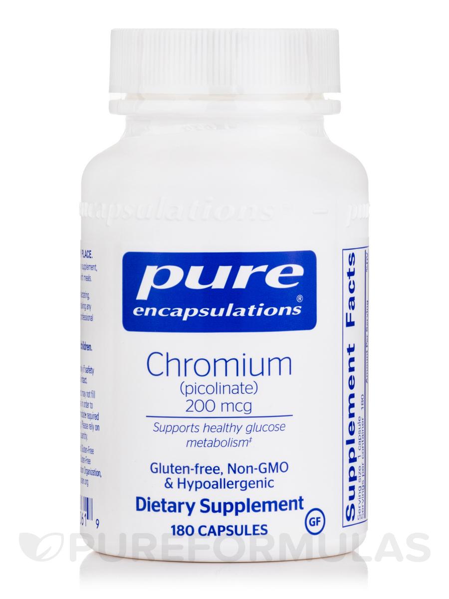 Chromium (picolinate) 200 mcg - 180 Capsules