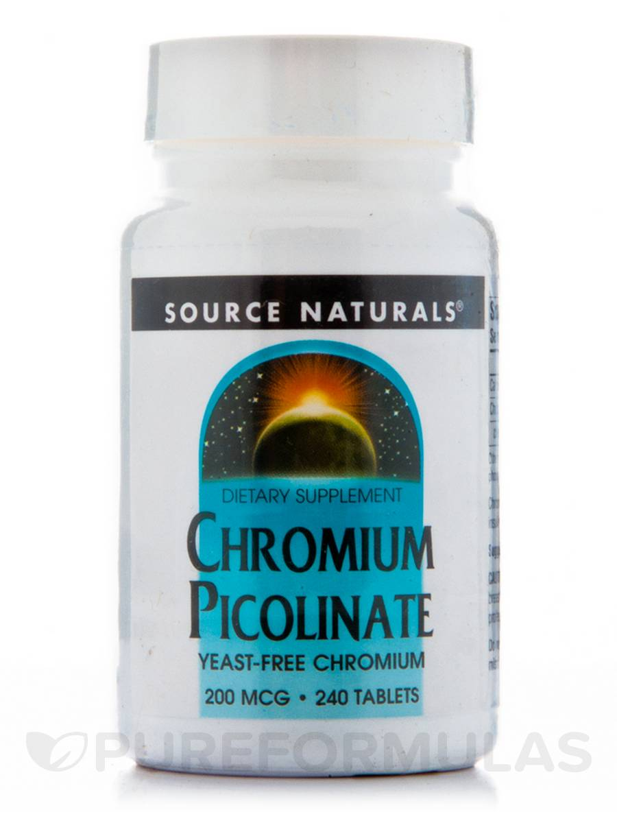Chromium Picolinate 200 mcg - 240 Tablets