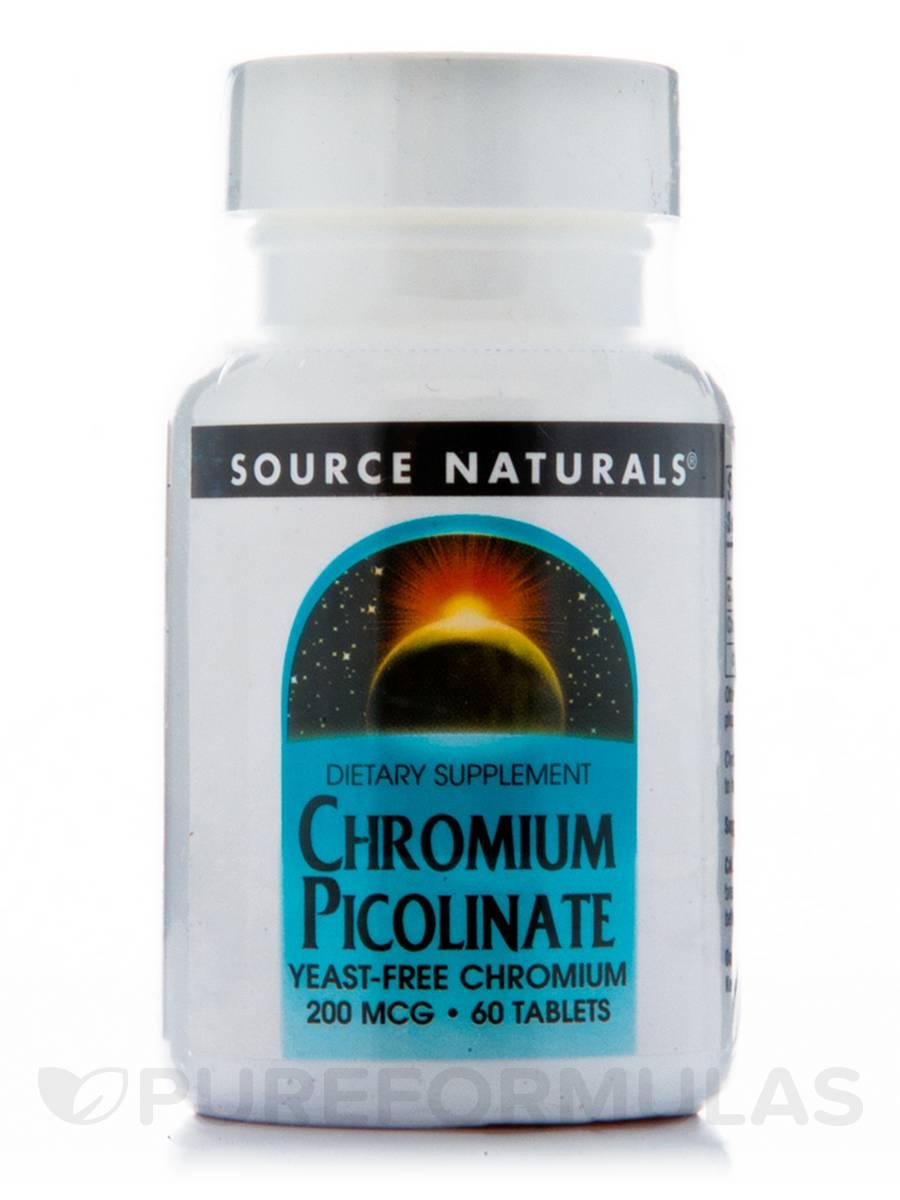 Chromium Picolinate 200 mcg - 60 Tablets
