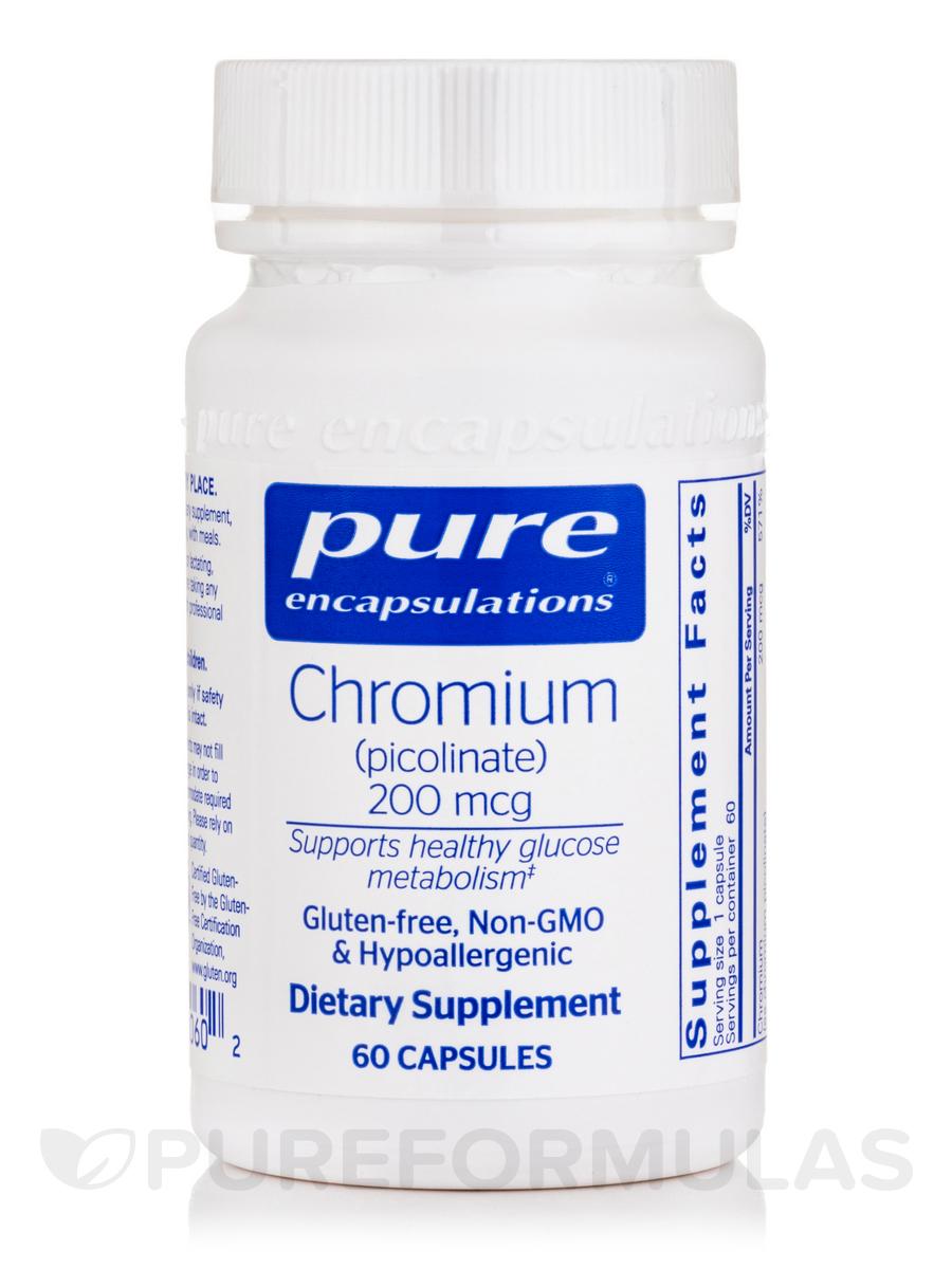 Chromium (picolinate) 200 mcg - 60 Capsules