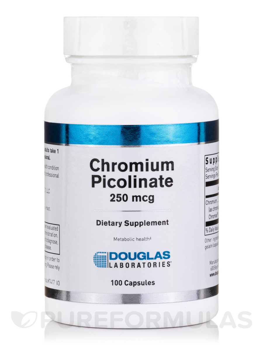 Chromium Picolinate 250 mcg - 100 Capsules