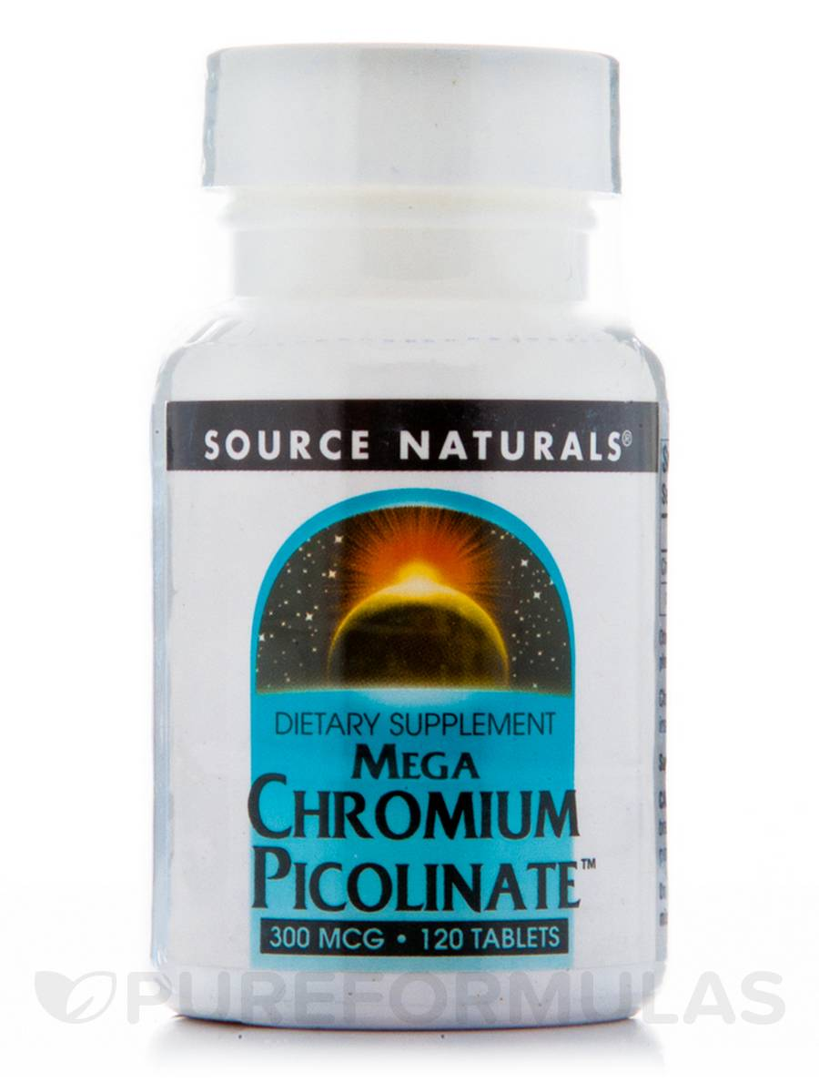 Chromium Picolinate 300 mcg - 120 Tablets