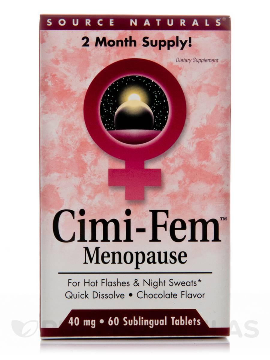 Cimi-Fem 40 mg, Chocolate Flavor - 60 Tablets