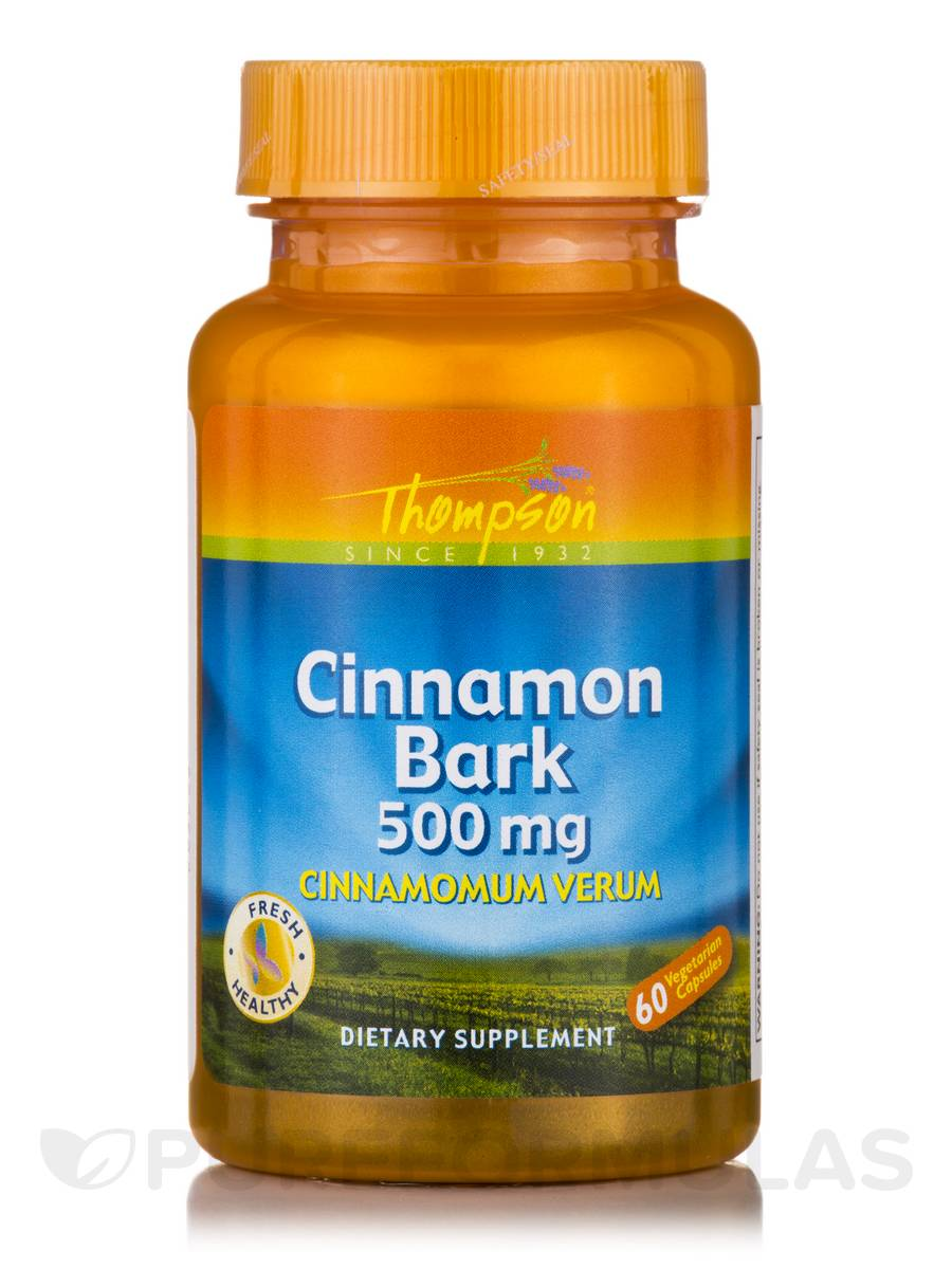 Cinnamon Bark 500 mg - 60 Vegetarian Capsules