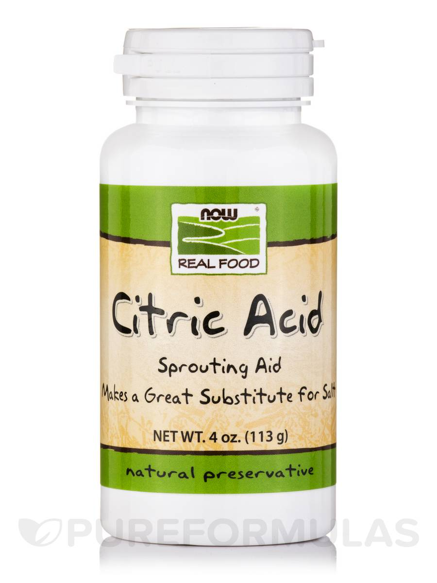 NOW® Real Food - Citric Acid - 4 oz (113 Grams)