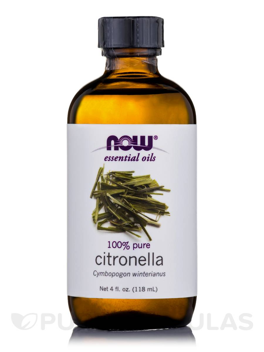 NOW® Essential Oils - Citronella Oil - 4 fl. oz (118 ml)