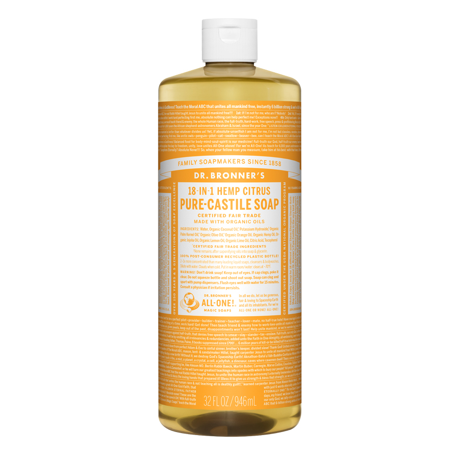 Citrus Orange Oil Pure Castile Liquid Soap - 32 fl. oz (946 ml)