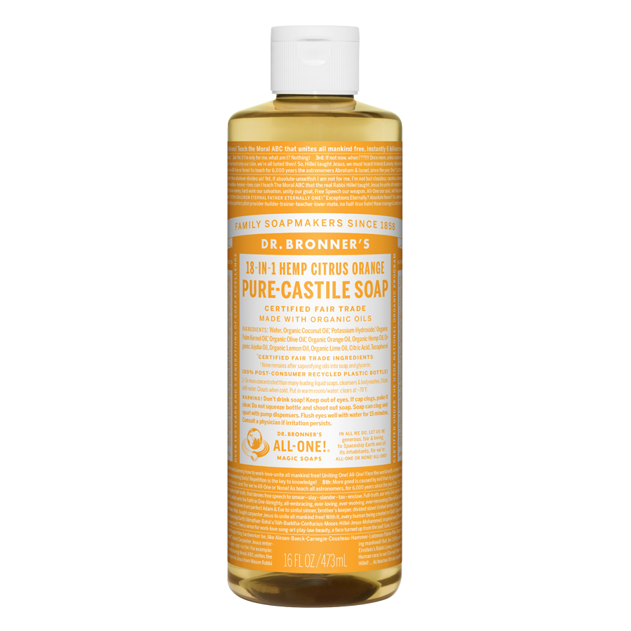 Citrus Orange Oil Pure Castile Liquid Soap - 16 fl. oz (473 ml)