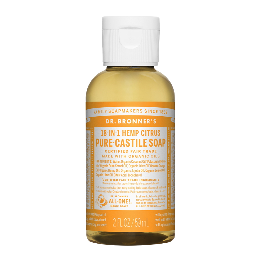 Citrus Orange Oil Pure Castile Liquid Soap - 2 fl. oz (59 ml)