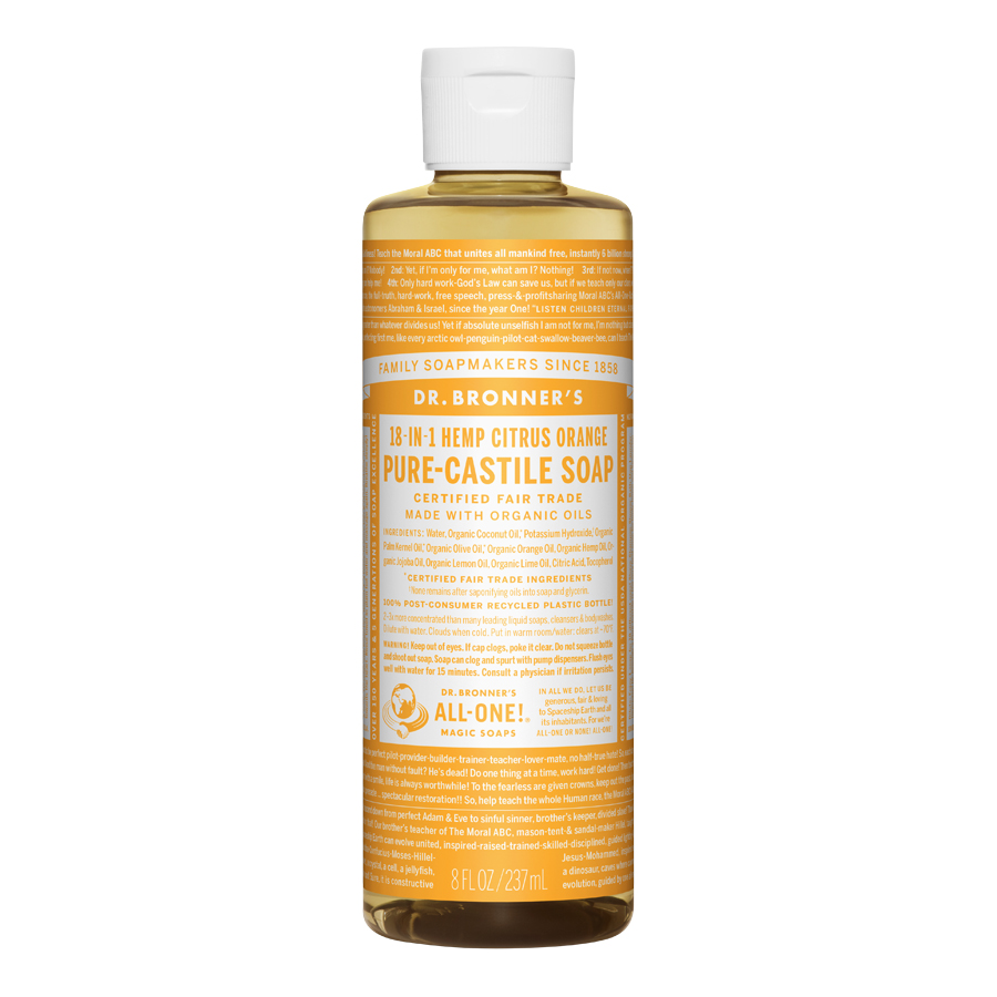Citrus Orange Oil Pure Castile Liquid Soap - 8 fl. oz (237 ml)