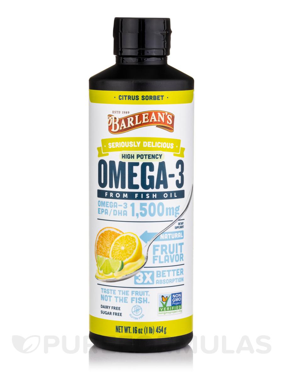 Ultra High Potency Fish Oil Citrus Sorbet Omega Swirl - 16 oz (454 Grams)