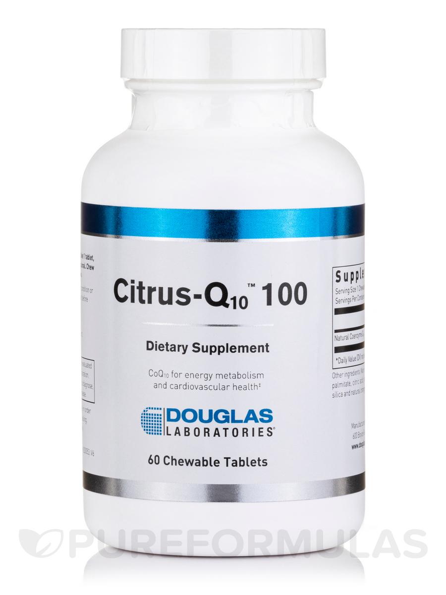Citrus-Q10 100 Citrus Flavor - 60 Tablets