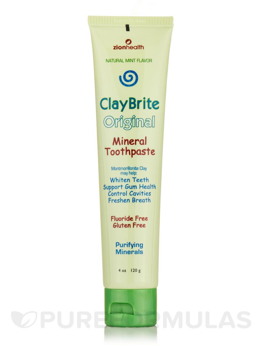 ClayBrite Original Mineral Toothpaste, Natural Mint Flavor - 4 oz (120 Grams)