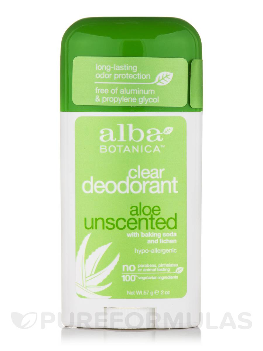 Clear Deodorant, Aloe Unscented - 2 oz (57 Grams)