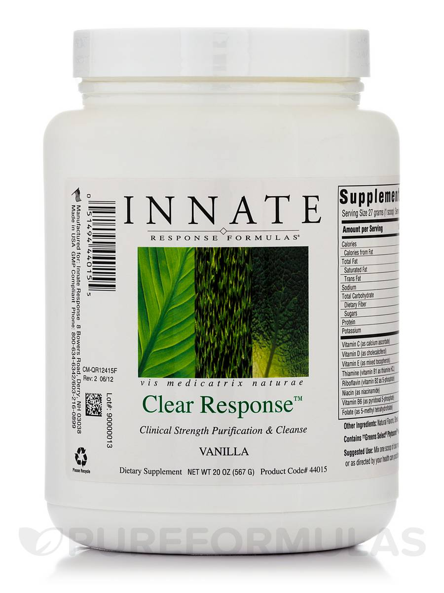 Clear Response Vanilla - 20 oz (567 Grams)