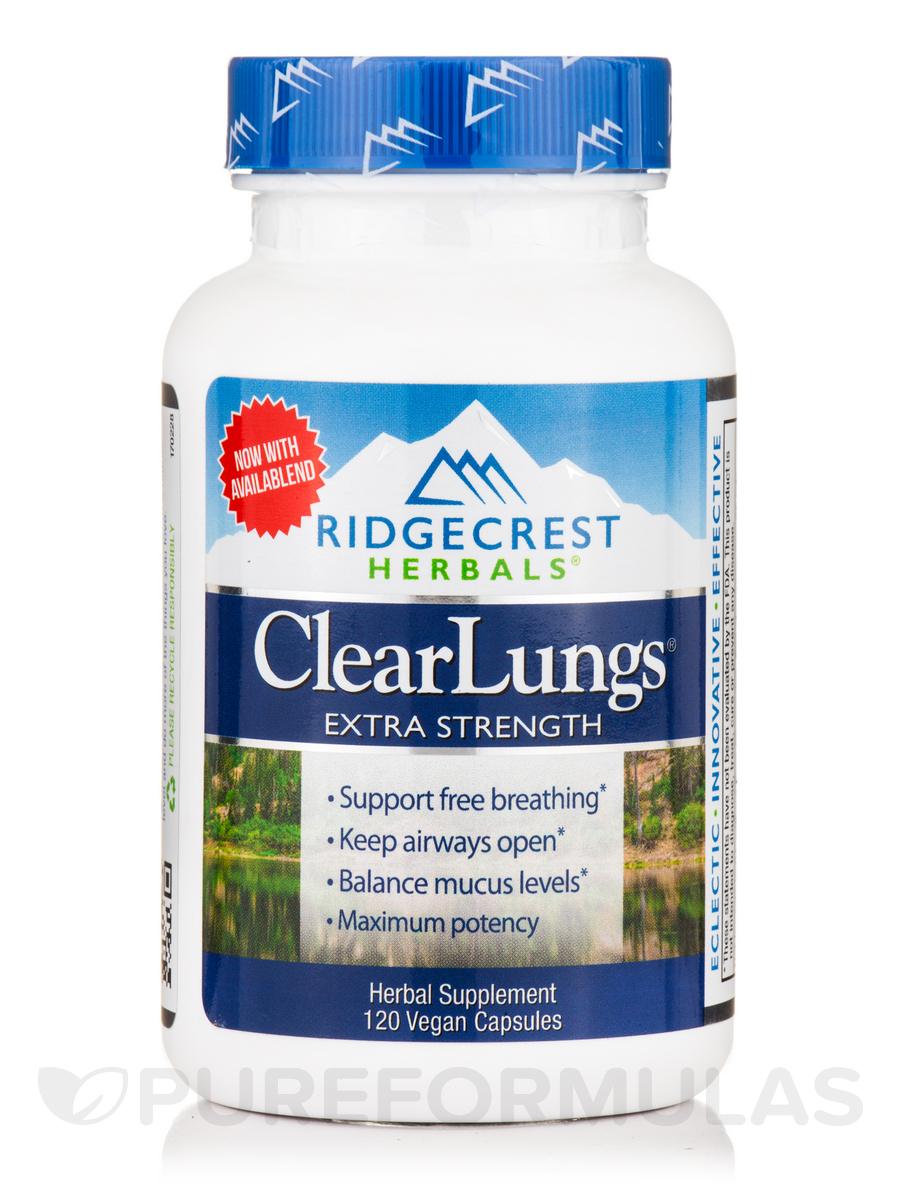 ClearLungs® - Extra Strength - 120 Vegan Capsules