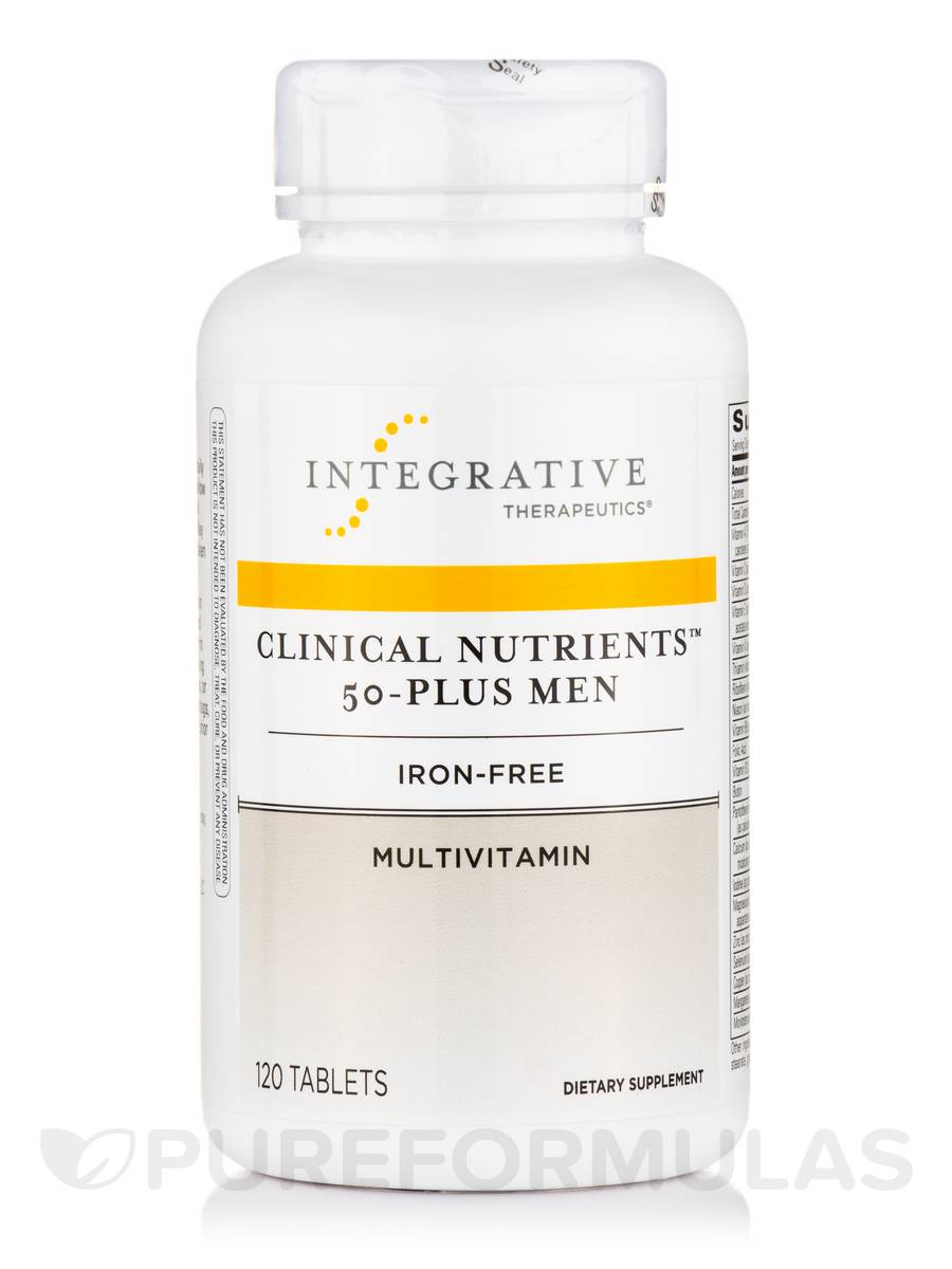 Clinical Nutrients™ 50-Plus Men (Iron-Free) - 120 Tablets