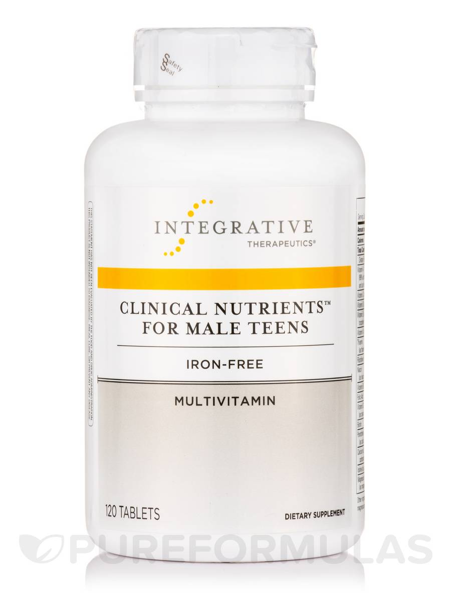 Clinical Nutrients for Male Teens, Iron-Free - 120 Tablets